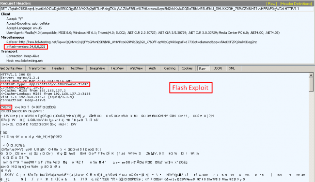 Fig 5. Flash exploit payload